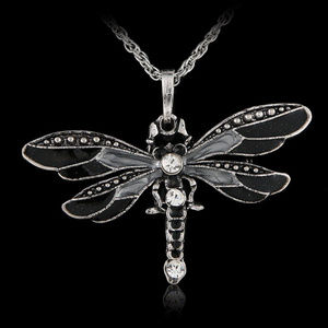 Jewelry - Crystal Embellished Dragonfly Necklace